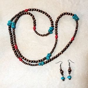 """46"""" 3 way wear necklace and earrings"""